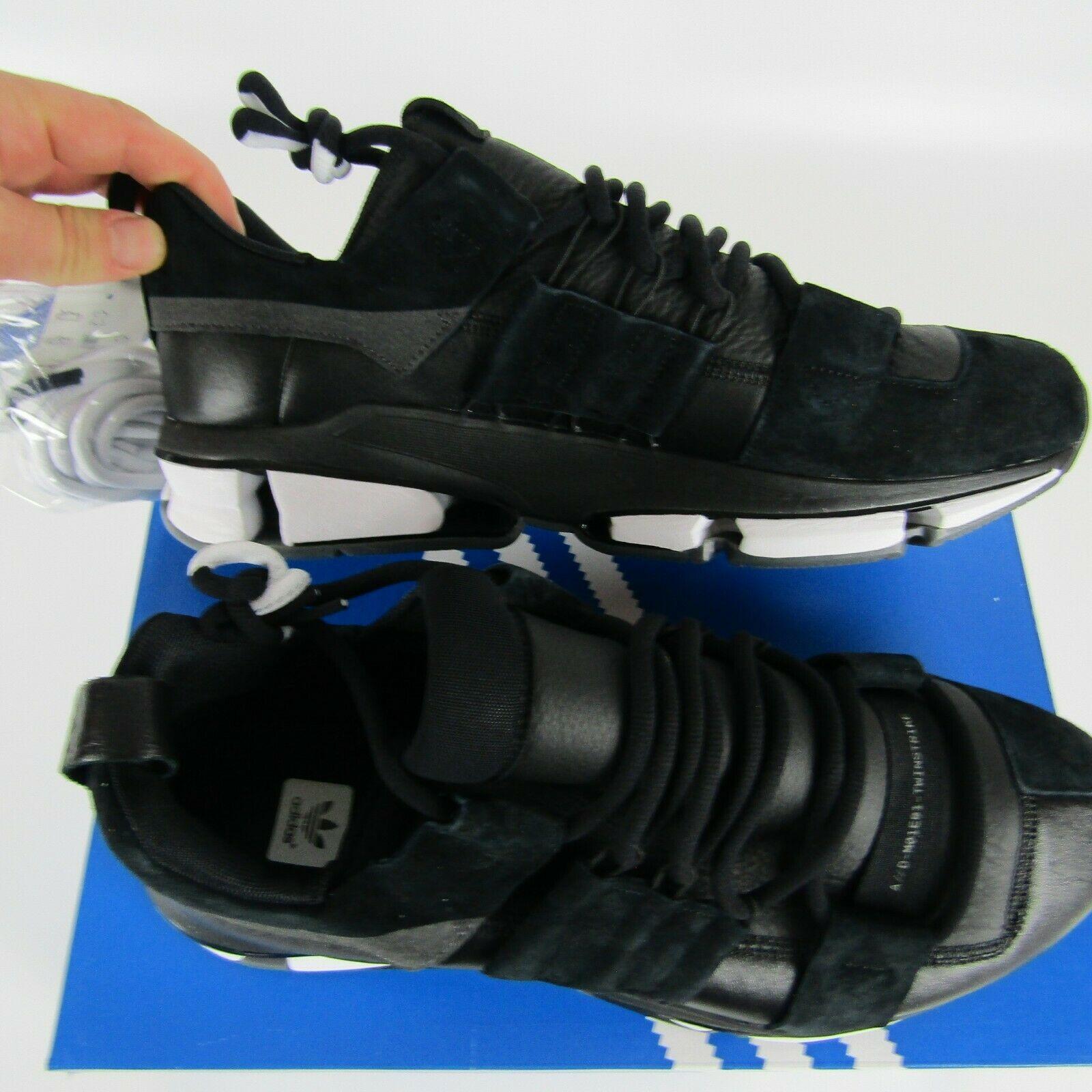 Adidas Twinstrike Adv Elástico Cuero Casual Zapatos Negros Blanco B28015 Size 13 image 6