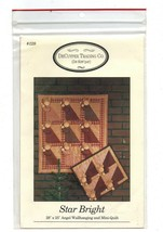 1992/Star Bright/Angel Wall Hanging-Mini Quilt UNCUT Pattern - $3.99