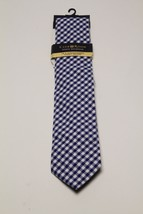 Club Room Cotton Skinny Blue Checker Tie MSRP $59.50 - $17.82
