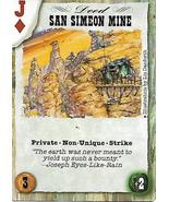 Dead Lands Playing Card- San Simeon Mine - $1.00