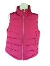 Pink Goose Down Vest Small Zipper Pockets Sleeveless Jacket Puffer Coat EUC - $24.50