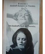 Vintage Tegrin Dandruff Shampoo Print Magazine Advertisement 1971 - $3.99