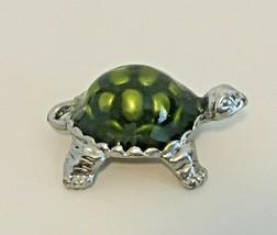 Brighton Silver-Tone Turtle Charm w/ Green Enamel Shell - FREE U.S - $16.80