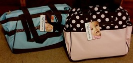 BRAND NEW WITH TAGS Baby Essentials Fashion Diaper Bag, CHOOSE PINK OR BLUE - $24.99