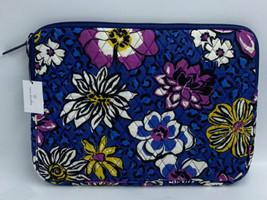 "NWT Vera Bradley African Violet 13"" Tablet Sleeve Floral Blue Purple Yellow - $21.99"