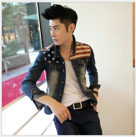 Primary image for [Asia Size] Men's Fashion Korean Slim Fit Jeans Jackets Spicing Male Dress Coat