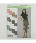 Simplicity Sewing Pattern 4787 Misses' Skirts Made Easy Plus Sizes 14 16... - $11.50