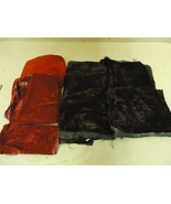 Designer Box of Material Velvet Multicolor Various Sizes Fabric - $25.12