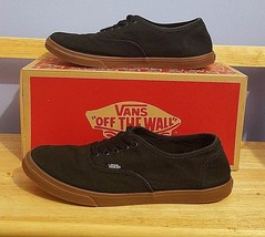 Vans Mens 6.5 Womens 8 Black Authentic Classic Rubber Gum Sole Sneakers - $39.59