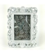 "Wooden Bright Silver Damask Scroll Picture Frame 2""x3"" Photo for Table T... - $14.95"