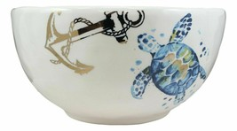 Marine Blue Sea Turtle Ceramic Large Soup Salad Rice Pasta Serving Bowl ... - $36.99
