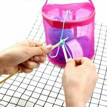 Knitting Kit Mesh Bag DIY Tools Organizer Yarn Bag Crochet Thread Storage - $14.33