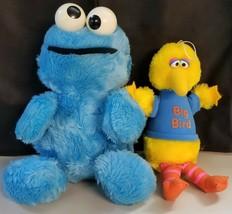 N) 1983 Playskool Hasbro Softies Big Bird Cookie Monster Sesame Street Plush Toy - $5.93