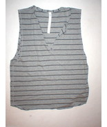 NWT Womens Lululemon New Yogi Cut Off Tee Top Shirt 10 12 Stripes Gray Y... - $160.00