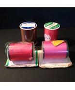Polyester spools of thread, Red, pink, brown, vintage, unused - $8.75