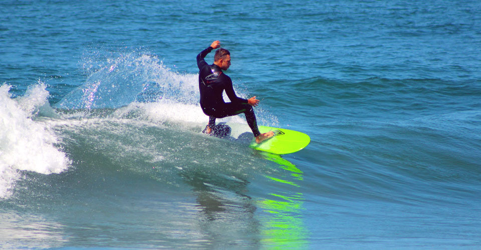"Paragon Mini Simmons 5'6"" Green-Gray Surfboard"