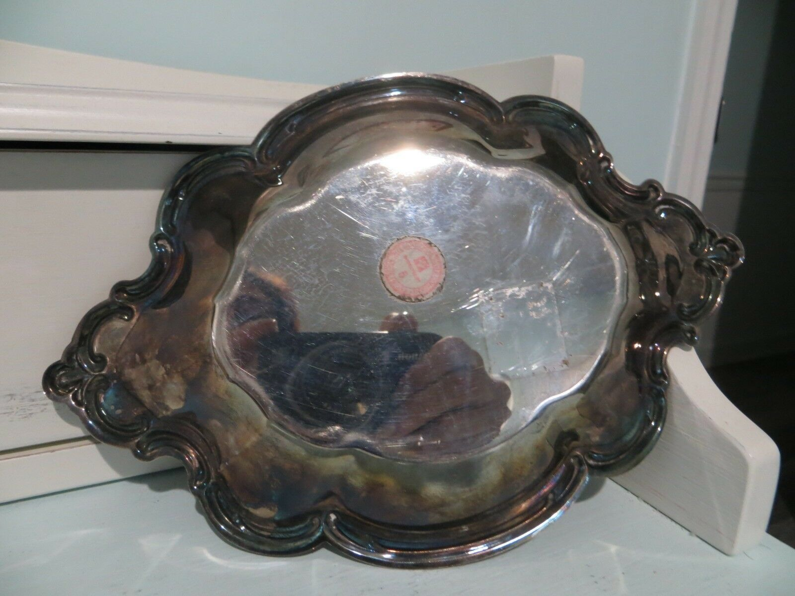 Vintage small silver nut/candy dish made by The International Silver Company image 4