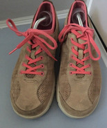 Dansko Elise Women's Leather Suede Beige Pink Athletic Sneaker Shoes Sz ... - $29.95