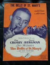 1945 The Bells Of St. Mary's sheet music Bing Crosby Ingrid Bergman WWII - $9.50