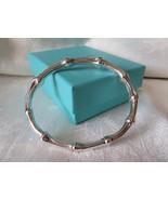 Tiffany & Co. 1996 Sterling Silver Oval Bamboo Bangle Bracelet~Medium~B & P - $295.00