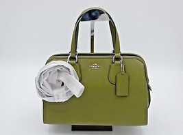 NWT Coach Nolita Green Crossgrain Leather Convertible Satchel Bag New 36392 - $189.00