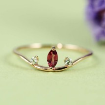 Tourmaline and Cubic Zirconia Rose Gold Plated Ring - $38.00