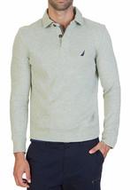 New Mens Nautica Windward Long Sleeve Grey Classic Fit French Rib Polo Xxl $79 - $28.99