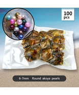Pearl Oysters 100pcs Mix color Round Akoya Pearls - Individually Wrapped... - $401.61