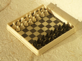 Vintage Chess - Soviet Vintage Set of Travel Chess Made in USSR in 1970s. - $26.00
