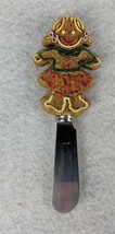 """Gingerbread Girl Cookie Knife Spreader Boston Warehouse Stainless China 5"""" - $13.85"""