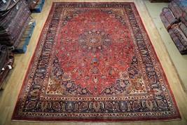 Signed Persian Mashad Dorokhsh Town Weavers Rug 404 x 287 cm Handmade 9x13 - $1,379.94