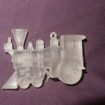 Vintage Train Engine Frosted Clear Plastic Chri... - $8.99