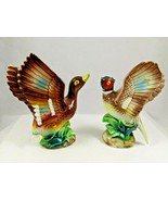 """Ceramic Porcelain Bird Duck Pheasant Figurine Open Wing Stamped Japan 4.75"""" Tall - $12.99"""