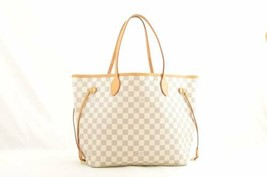 LOUIS VUITTON Damier Azur Neverfull MM Tote Bag N51107 LV Auth 10996 - $980.00