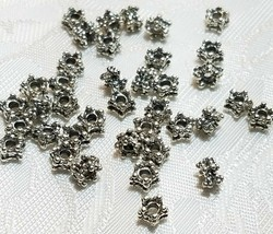 10 - Five Point Fine Pewter Spacer Beads 4x5x5mm; Hole 1.5mm image 2