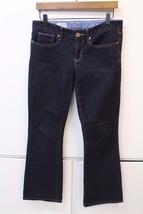 W12851 Womens Gap 1969 Black Denim Curvy Boot Cut Stretch J EAN S Size 6 - $34.73