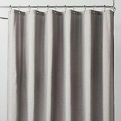 Waterproof Heavyweight Basket Weave Shower Liner Sleek Gray - 71''X71'' GREY