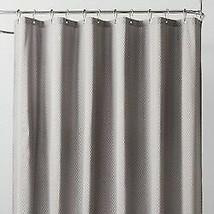 Waterproof Heavyweight Basket Weave Shower Liner Sleek Gray - 71''X71'' GREY  image 1