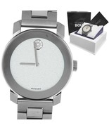 Movado BOLD Stainless Steel Diamond 41mm Swiss Quartz Watch MB.01.3.14.6312 - $249.95