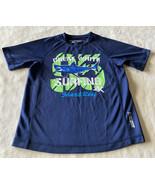 ZeroXposur Boys Blue Green Shark UPF 50+ Sun Protection Short Sleeve Shi... - $12.13