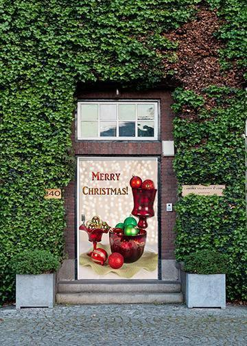 Merry Christmas Balls Door Ornaments