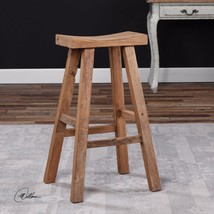 "FARMHOUSE INSPIRED 30"" RUSTIC RECLAIMED ELM WOOD BAR STOOL MILKING STOOL... - $215.60"