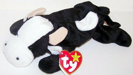 """Ty 1994 DAISY the Black Cow with White Face, Spots and Tan Horns New 8"""" ... - $6.93"""