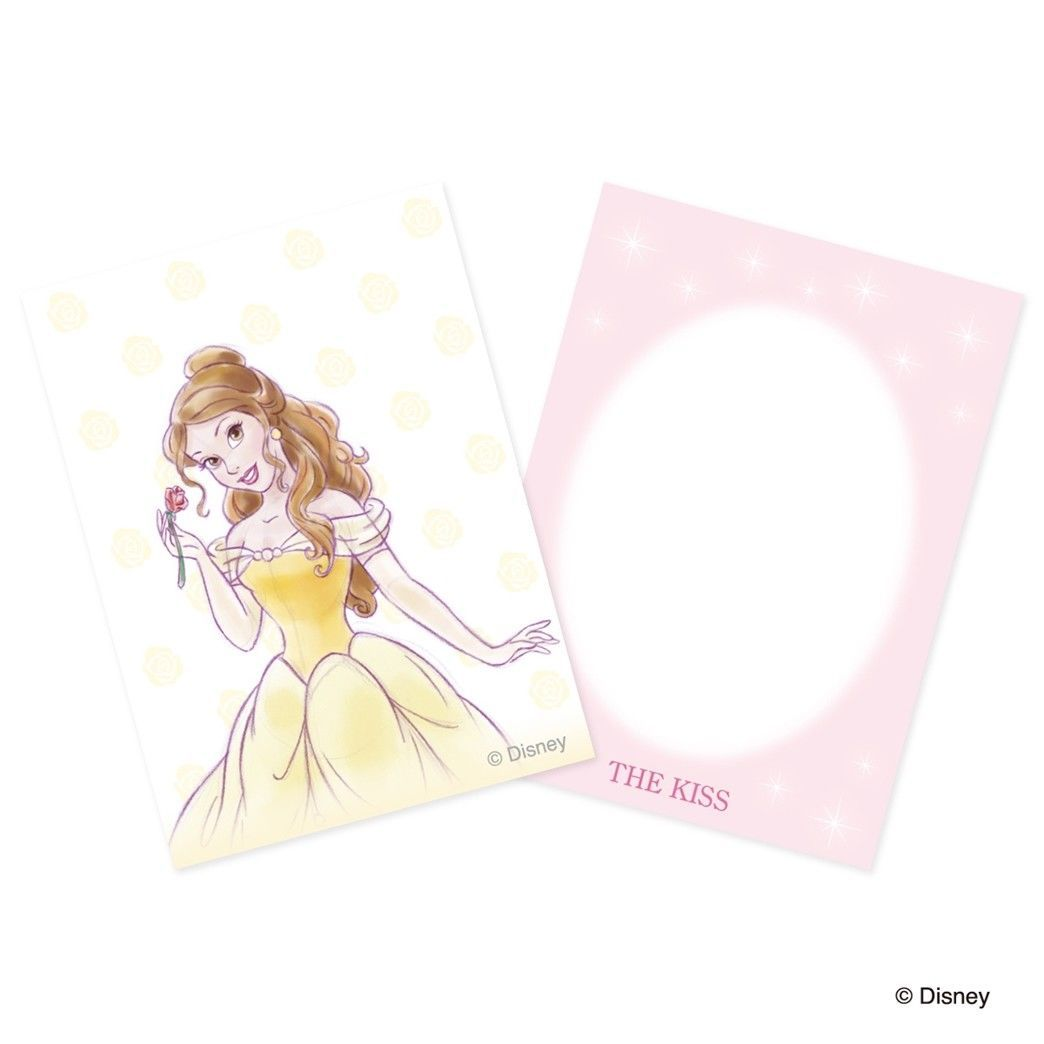 Disney × KISS Princess Bell Pink gold coating Sterling Silver 925 Ring 4 5 6 7