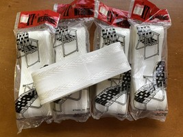 Vintage Webbing Kit LAWN CHAIR Packs 85 FEET TOTAL White w/ Silver Stripes - $24.74