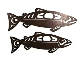 Castlelake Products Tribal Salmon Metal Wall Art 24 Inch, Copper - $88.90