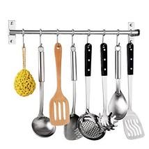 Kitchen Utensil Rack,Wall Mounted Hanger,Space Saver Stainless Steel Rac... - $24.77