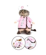 NACOCO Dog Cat Nurse Costume Pet Nurse Clothing Halloween Jeans Outfit A... - $11.87