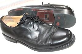 Dockers Premium Mens Black Leather Cap Toe Lace Up Dress Shoes Size 11.5 W - $18.81