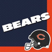 Chicago Bears NFL Pro Football Sports Banquet Party Paper Luncheon Napkins - $8.17